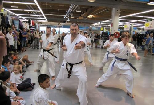 Démonstration de karaté Kyokushinkai à Décathlon Odysseum par le Ryuko Dojo